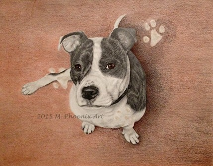 "R.I.P. Dodger 18"" x 24"" graphite/colored pencil"