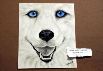 """Spread the Happy- 6"""" x 8"""" pencil portrait"""