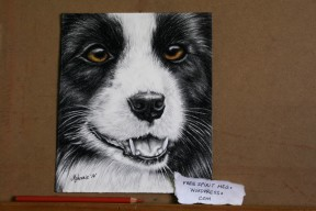 """Untitled- 8"""" x 6"""" charcoal/colored pencil drawing"""