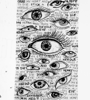 Eye have always loved drawing eyes. (See what I did there) Ever since I was a kid and has been a popular subject of mine. These are all human except one. Can you find it?