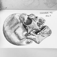 I don't know why but I really enjoy drawing bones, especially skulls.