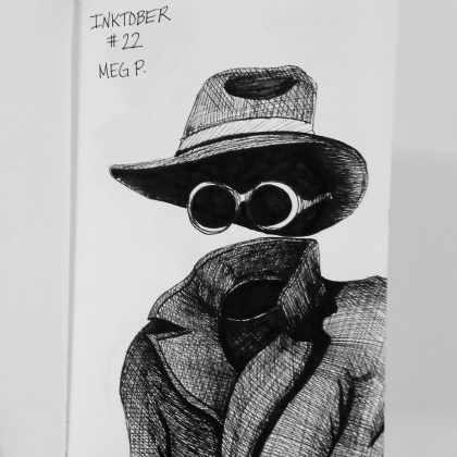 """""""The Invisible Man"""" Can you imagine how terrible it would to have see-through eyelids! I'd go mad, I say!"""