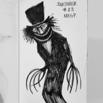 """""""The Babadook"""" How do people come up with this sh!t! Creepy!"""