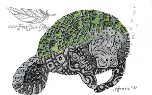 Manatee Totem Color