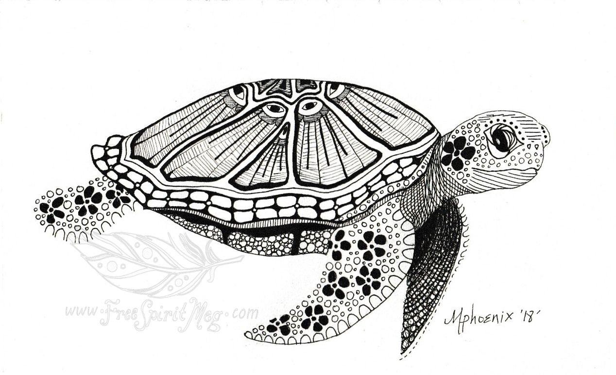 Turtle Totem BW