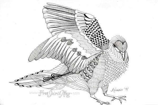 Morning Dove Totem BW