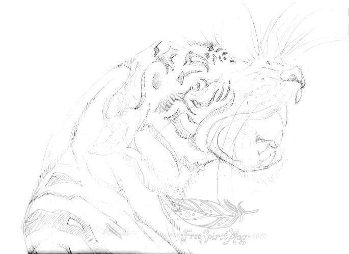 Tiger Totem BW